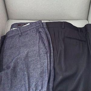 2 Pairs of Men's Pants New Conditio - size 38 x 30